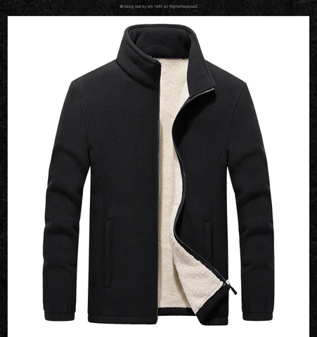 Stand Collar  Polar Fleece Jackets & Coats