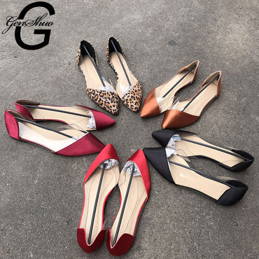 Pointed Toe Shoe Ballet Flat  Shoes