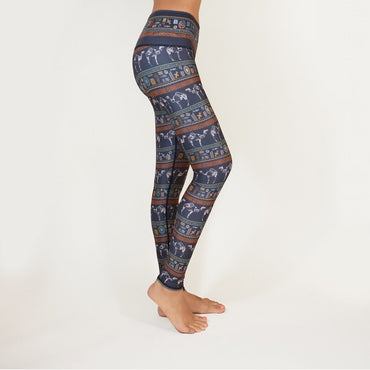Casual Sport-wear Floral Printed Legging