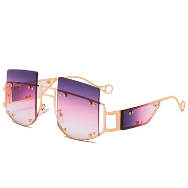 Cool Metal Frame Fashion Metal Decorations Sunglasses