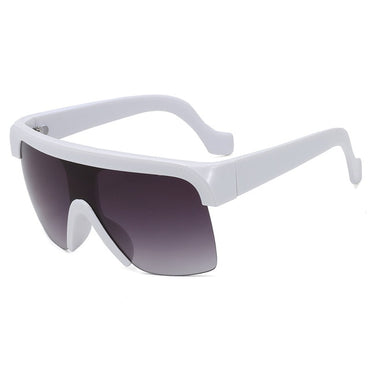 rimless gradient mirror sunglasses