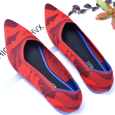 luxury Brand Shallow Mouth Pointed Ballerina loafers Flat Shoes