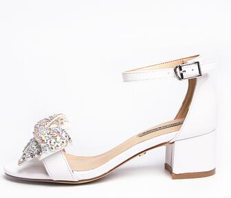 thick heel open toe white sandals