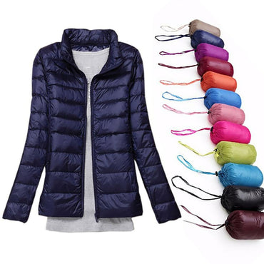 White Duck Down Coats Short Parkas Hooded Outerwear Jacket & Coats