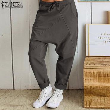 Casual Elastic Waist Work Office Long pants