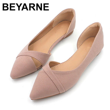 Casual Breathable Comfortable Soft-soled Shoes Pointed Toe Shallow Flat Shoes