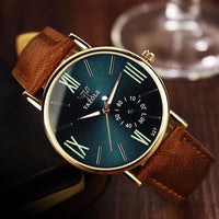 Glass Quartz Analog Wristwatch Noctilucent Watches