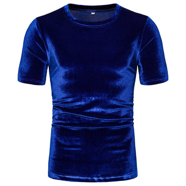 Velvet Solid Color T Shirt