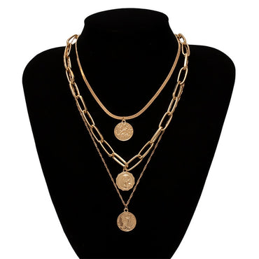 Multi Layer Coin Necklace