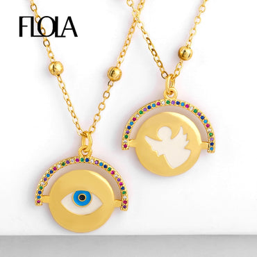 Turkish Eye Coin Necklace