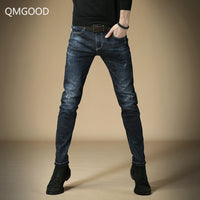 Solid Color Micro-elastic Classic  Skinny Jeans