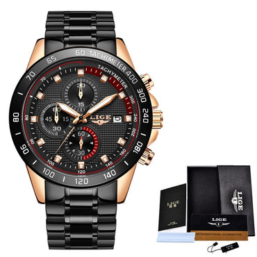 Chronograph Sports Watches Waterproof Full Steel Quartz  Watch