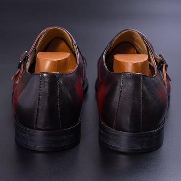 Genuine Leather Handmade Brown Red Color Office Business Oxford  Shoe