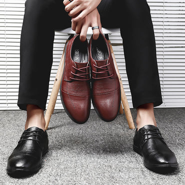 Lace Up genuine Leather  Oxfords shoes