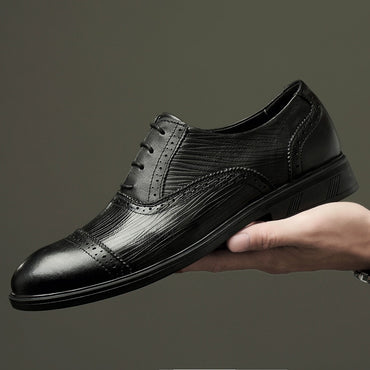 genuine leather brogue shoes Oxfords Shoes