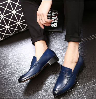 Pointed Toe Dress Slip On Shoes Quality Leather Casual Loafers Formal Oxford Shoes