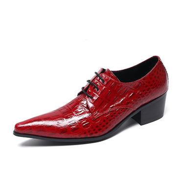 Classic Red Genuine Leather  Oxford Shoes