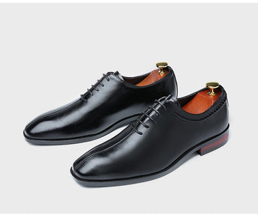 Sapato Masculino Social Patent Leather Pointy Brogue Metallic Lace Up Shoes For Wedding Dressing Oxford Shoes