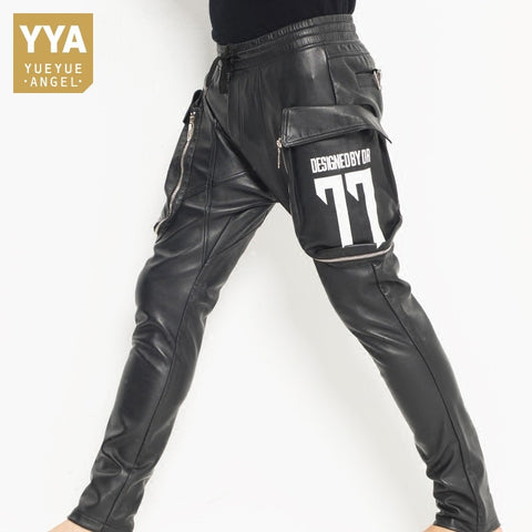 Casual Big Pockets Elastic Waist Joggers Harem Pants
