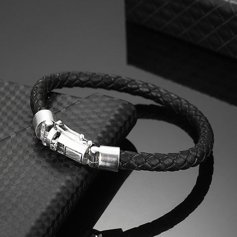 Leather Chain Genuine Leather Bracelet and Bangle