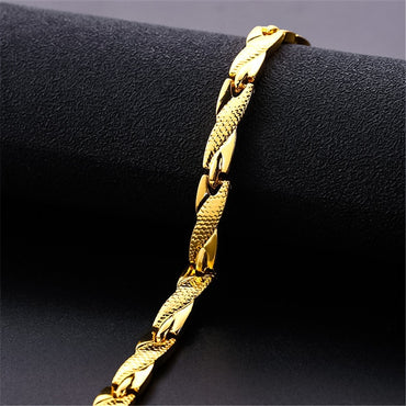 Twisted Healthy Magnetic Bracelet and Bangle