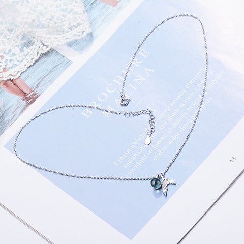 Sterling Silver Whale Mermaid Tail Necklace