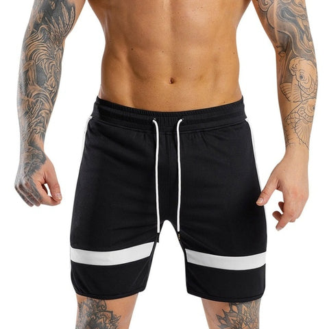 White Casual Sports Running Shorts