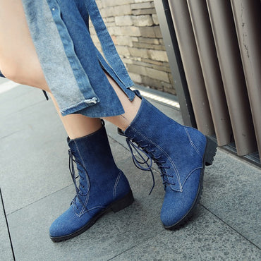 Round-headed thick-heeled Martin boots