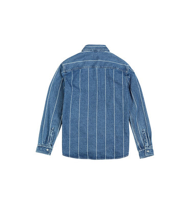 Vertical striped denim jackets