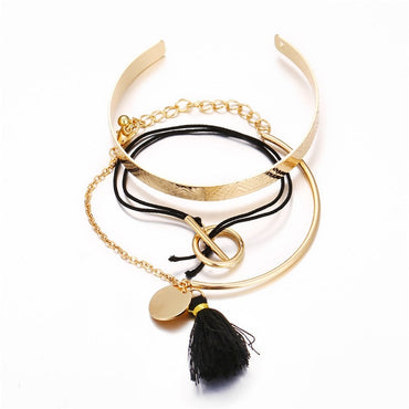 n Gold Color Star Heart Moon Bead Crystal Bracelet and Bangle