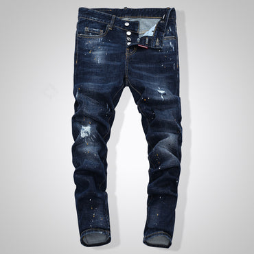 Ripped  Skinny  Zipper Outwear Jeans