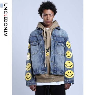 Smile Face Kanye Denim Jacket