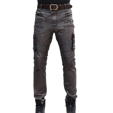 Sheepskin Real Leather Pencil Pants