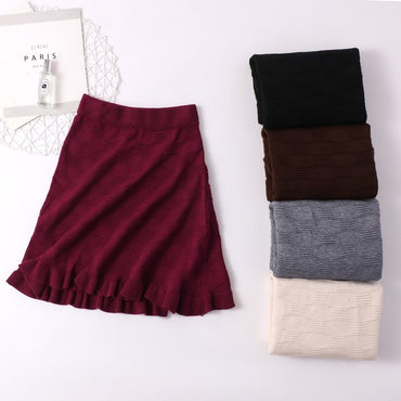 Ruffle Knitted Skirt