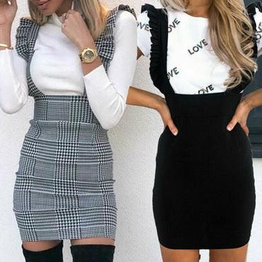 Braces Bodycon Slim Shoulder Straps  Overall Skirts