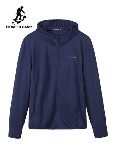 Plain Dark Blue Sweatshirt Zipper Hoodies