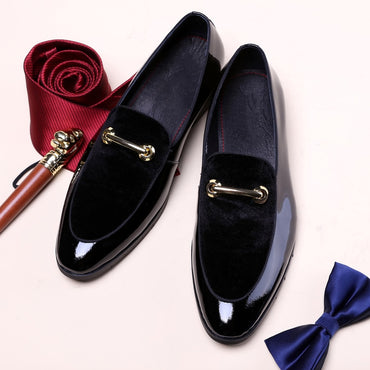 Patent Leather Shadow Groom Oxford Shoes