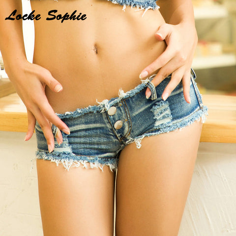 cotton Tassels Splicing hole short jeans