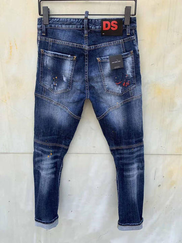 Ripped biker Jeans Outwear Pants