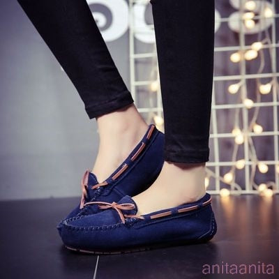 cow suede Flats Shoes