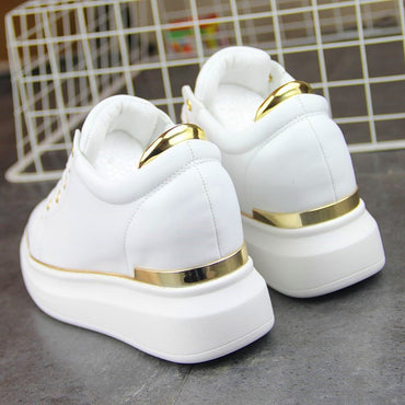 Leather Golden Silver White  Shoes & Sneakers