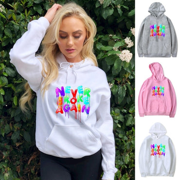 Colorful Never Broke Again Printed Hoodies