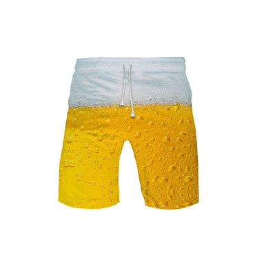 Beer Day3D color printed shorts