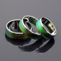 Temperature Changing Color Magic Emotion Feeling Stainless Steel  Rings