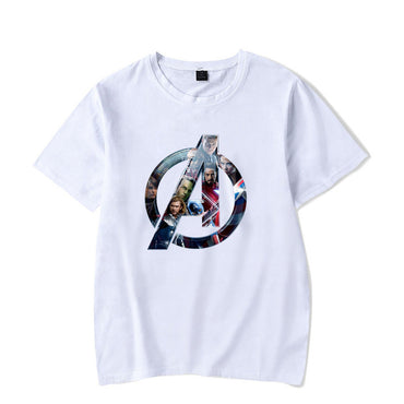 Marvel Cute Cartoon Pattern Anime Tee MCU Harajuku Large Size 4XL Streetwear Unisex t-shirt