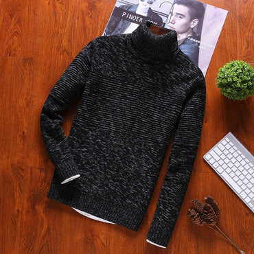 Turtleneck Pullovers Cotton O-Neck  Sweaters