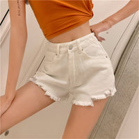Slim High Waist Korea Stylish Denim Shorts