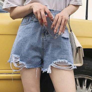 High Waists Mini Shorts Vintage Denim Shorts