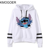 Long Sleeve Stitch Print  Hoodies