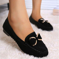 Bow Knot Flats Women Casual Shoes Solid Slip On Loafers flats shoes